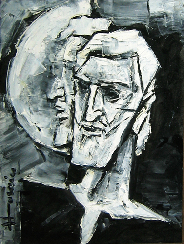 Self Portrait- M. F. Hussain